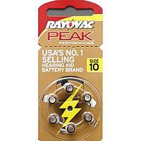 Батарейки для слуховых аппаратов RAYOVAC 10(PR70) BL 6шт