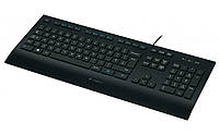 Клавиатура Logitech Corded K280E (920-005215) Black, USB, стандартная