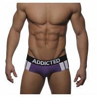 Хит сезона Брифы Addicted Sportive Stripes Purple