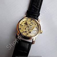 Часы Omega 115152 мужские механические золотистые автоподзавод скелетон диаметр 40 мм