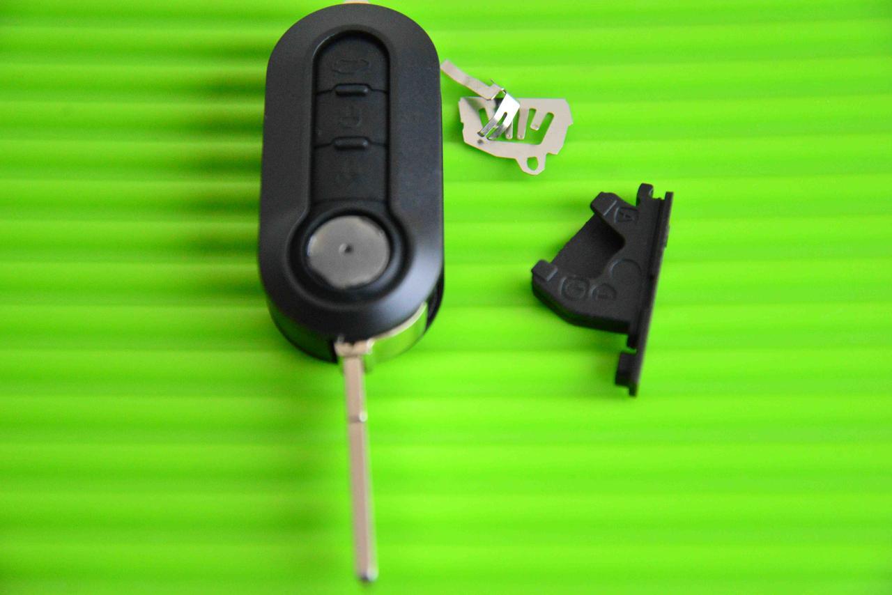 Корпус выкидного автоключа ключ Фиат для Fiat 500 Punto,Doblo,Ducato( ,Добло,Дукато) 3- кнопки с лезвием SIP22