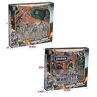 Военный набор 6633AB (72шт/2) 2 вида,в коробке 28,5*23*4,5см