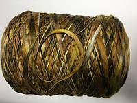 Меринос 100% , коричнево-горчичный меланж, размер 100 метров в 100 граммах.