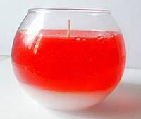 Свеча Новогодняя красная