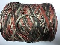 Меринос 100% , бордово-серый  меланж, размер 100 метров в 100 граммах.