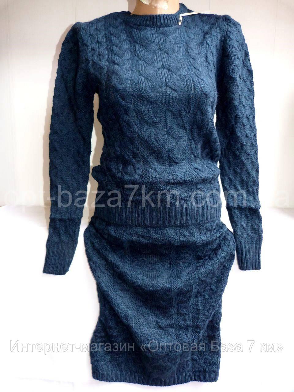 Костюмы женские оптом юбка+кофта купить в Одессе 7 км - вязка (42-46, норма) - Интернет-магазин «Оптовая База 7 км» в Одессе