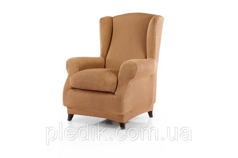 Чехол на кресло натяжной Испания, Rustica Gold Рустика золото