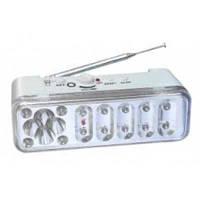 Фонарь+радио аккумуляторный светодиодный 14+4led РА-7369