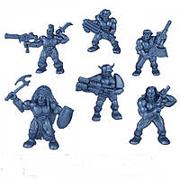 """Набір воїнів """"Корпус Торнадо"""" без коробки (6 воїнів/ колір синій металик), Fantasy"""