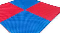 Мат татами Eva-Line синий/красный (плетенка) 100*100*2.6 см