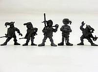 """Набір воїнів """"Рота Версаль"""" без коробки (5 воїнів/ колір сірий), Fantasy"""