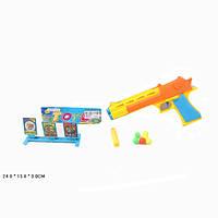 Пистолет с пороллон снар  6699-32A (384шт/2) в компл с мишенью, в пакете 24*13*3 см
