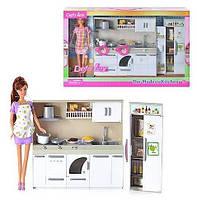 Кукла DEFA 6085 с кухней 2 вида, свет, звук