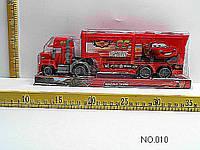 Трейлер машина-транспортер инерционный010 (48 шт/2) Тачки,  под слюдой 25*13  см.