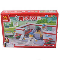 Конструктор больница WANGE 27161 Госпиталь 144 дет, кор. 27*18*5 см.