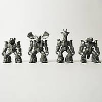 Загін ЗвеРоботов 90-х №2 4 фігурки (колір металік), арт. 00016/м, Технолог