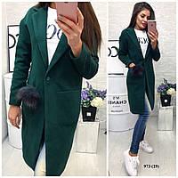 Пальто с натуральным мехом 973 (29) Код:581915594