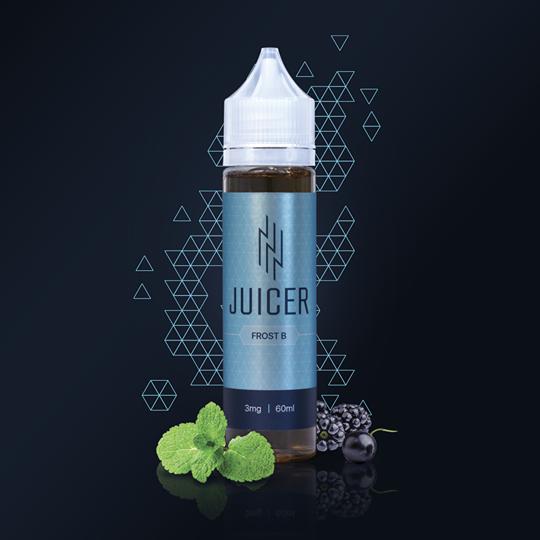 Жидкость для электронных сигарет  Juicer FROST B 60мл (ягоды+мята)