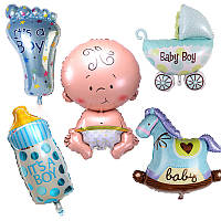 Набор фольгированные шары фигуры для мальчика 5 в 1