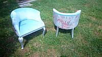 Итальянские мягкие дамские кресла в стиле рококо, цена за пару.