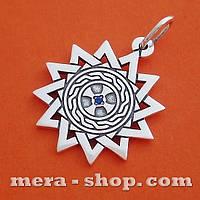 Серебряный талисман Звезда Эрцгаммы двухсторонний кулон
