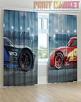 Фото шторы Тачки 3d