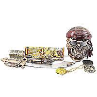 Пиратский набор ZP3554 (72шт/2) сабля, маска, флаг, сундук, компас, в пакете 46см