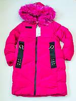 Зимове пальто на дівчинку ріст 128-164 см