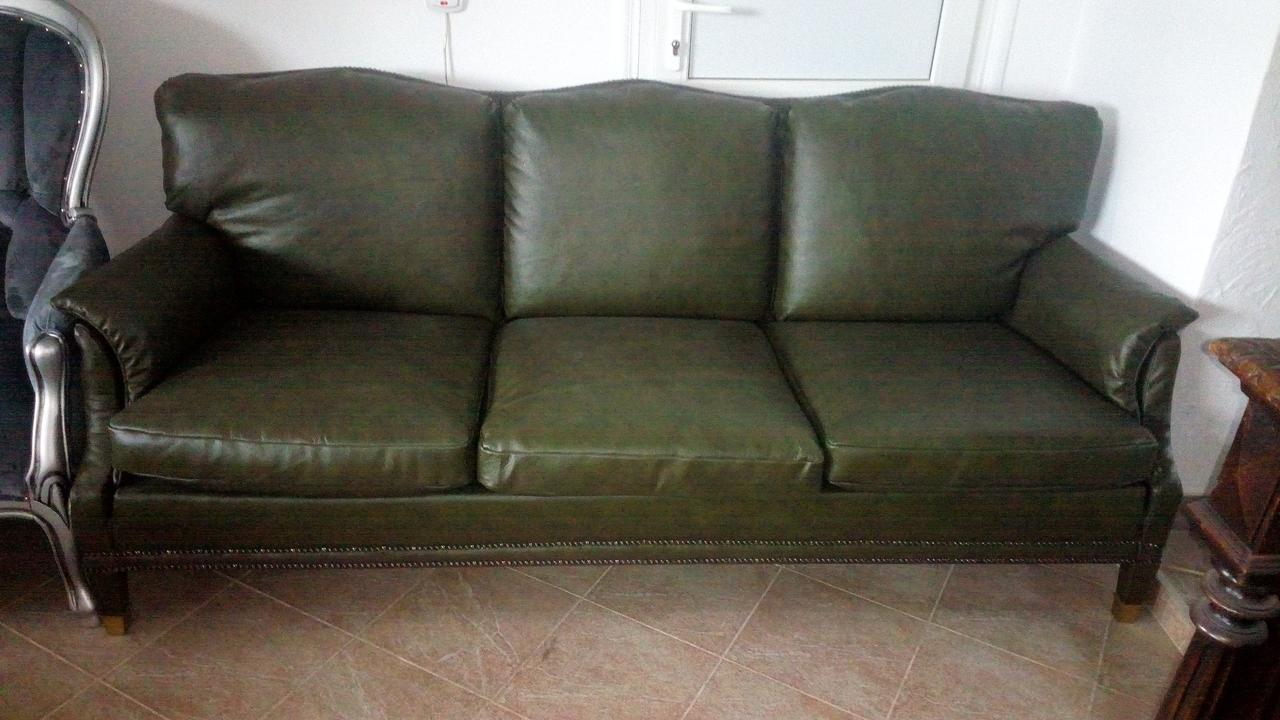 трехместный кожаный диван мебель бу из европы цена купить