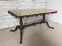 Прямоуголяный журнальный столик из мрамора и латуни (вторая половина XX века)