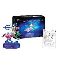 Пазлы 3D- кристалл Зодиак стрелец 9047A  светящ., 45 дет., в кор. 18*13*7см
