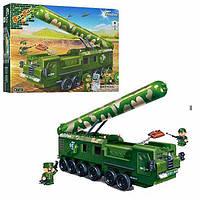 Конструктор BANBAO 6202 (6шт) военная машина,  фигурки 3шт,  502дет,  в кор-ке,  45-35-7 см.