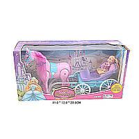 Карета 686-712 (24 шт/2) с лошадью,  куколкой,  в коробке  41*12*20  см.