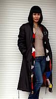 Пальто двухстороннее на цветной норке