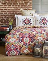 Постельное белье Karaca Home ранфорс Alambra фиолетовое евро размер