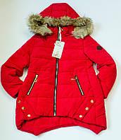 Куртка удлиненная   на девочку рост 134-164 см еврозима