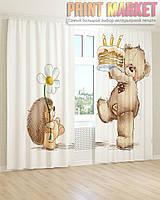 Фото шторы ежик и мишка