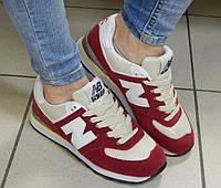 Кроссовки женские New Balance бордовые, фото 1