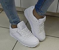Кроссовки женские Reebok Рибок белые кожаные