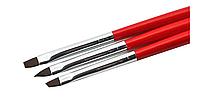 Набор кистей для росписи и дизайна ногтей 3 шт