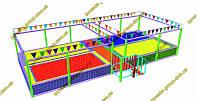 Батутная арена джамп с цветными полотнами, фото 1