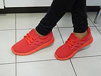 Кроссовки женские красные, фото 1