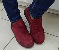 Кроссовки Криперы женские бордового цвета, фото 1