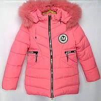 Куртка подростковая зимняя CA #А-3 для девочек. 140-164 см (10-14 лет). Розовая. Оптом., фото 1