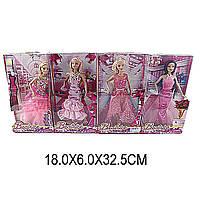 Кукла Барби 3134 (1412035) 4 вида, в бальных платьях, с аксессуары в коробке 18*6*33 см..