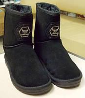 Угги женские черные замшевые, фото 1