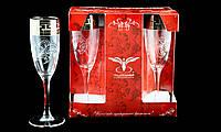 """Набор Стеклянных Бокалов Для Шампанского """"Греческий Узор"""" 170мл 6шт, фото 1"""