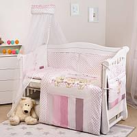 Детский постельный набор в кроватку Twins Dolce, 8 предметов