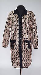 Шерстяное вязаное женское пальто