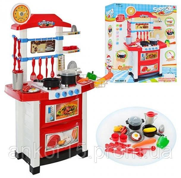 Кухня детская игровая 889-3. Свет, звук, продукты, посуда.